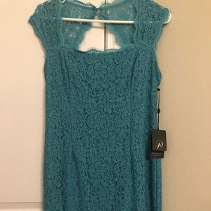 NWT Adrianna Papell Lace Sheath Dress 10 Petite